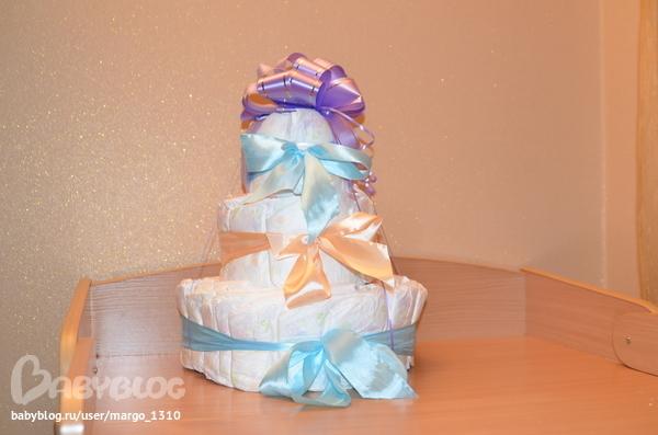 Подарки своими руками для новорожденных из памперсов