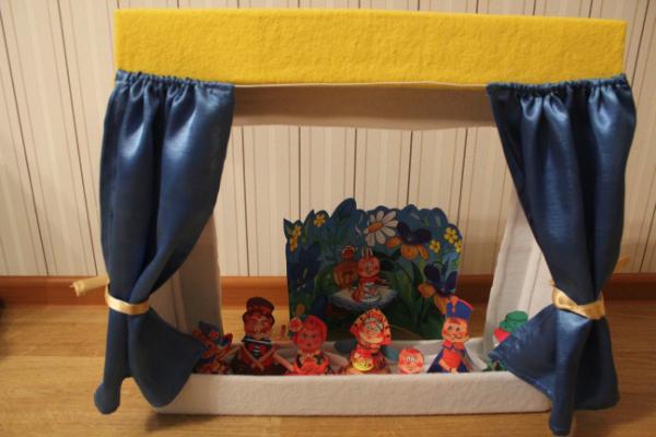 Кукольный театр из коробки