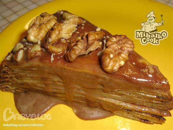 Торт с черносливом слоёный фото 3