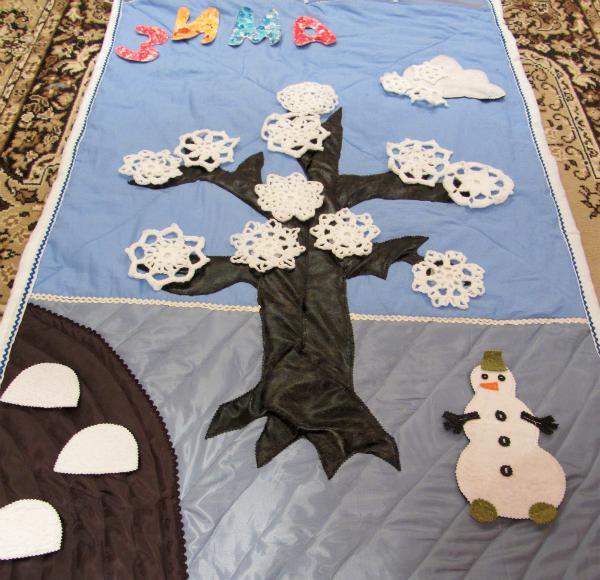Панно для детского сада из ткани