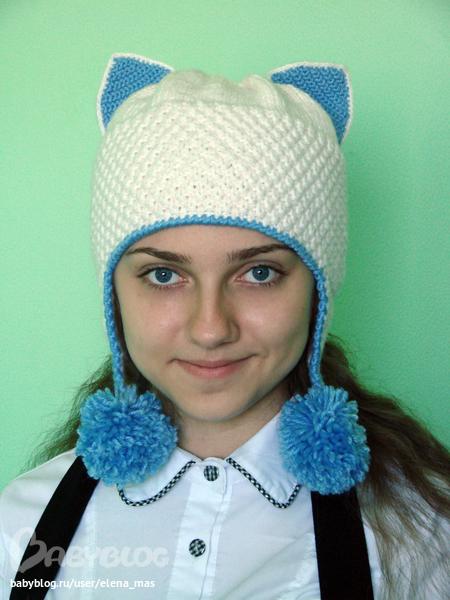 Схема шапочку с ушками. схем