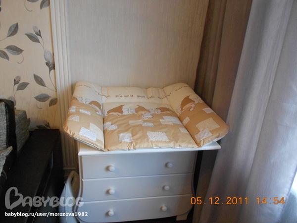 Доска для пеленания на кроватку своими руками