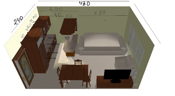 Дизайн кухни 16 м.кв