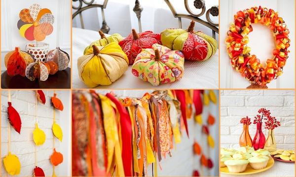 Осенний декор из бумаги своими руками 41