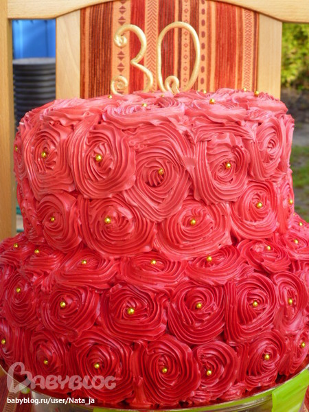 Торт из крема для девушки на 30 лет