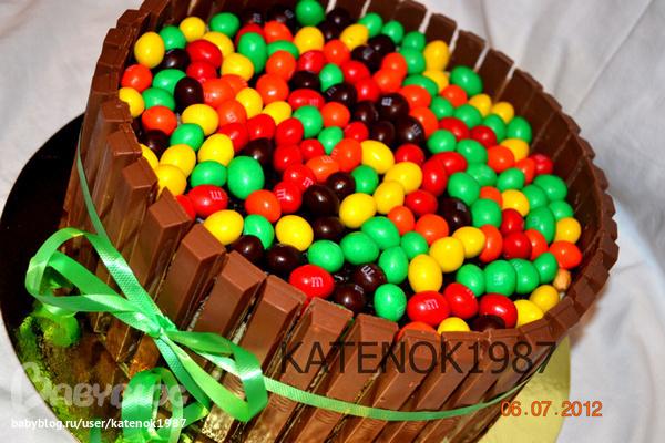 Торт из конфет с фото