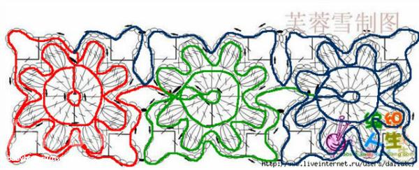 Схема для безотрывного вязания