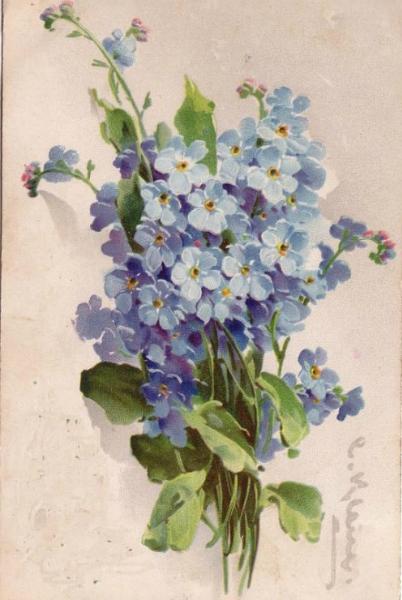 Росписи на стекле цветы
