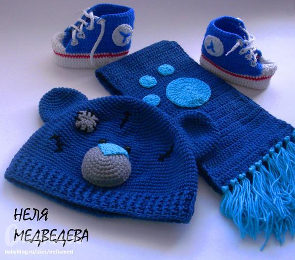 Вязания шапки для мальчика крючком