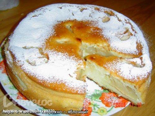 Пирог с яблоками и грушами с творогом — 2