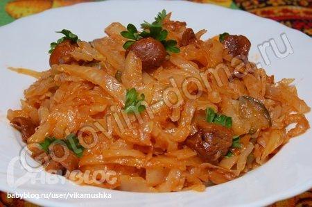 солянка с грибами и капустой рецепт с фото
