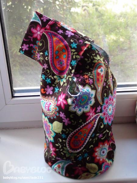 Маленькая сумочка японский узелок шьем своими руками