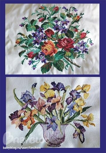 бабушкины вышивки -давно и