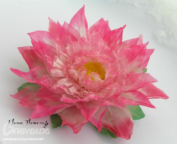 Цветок лотоса своими руками из ткани