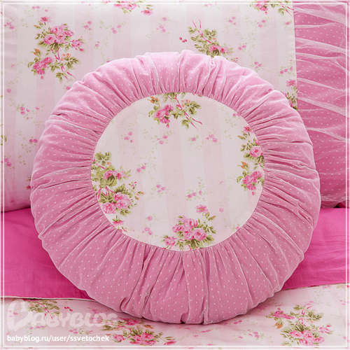 Декоративная подушка круглая своими руками 88