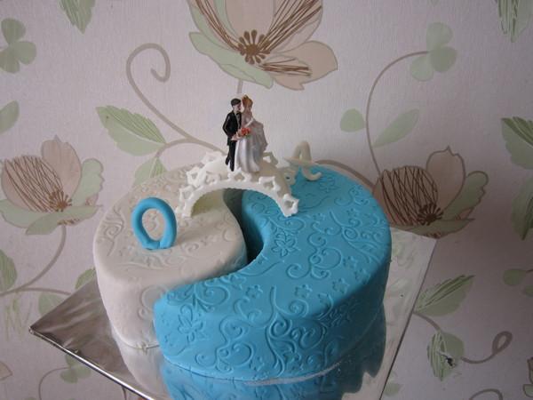 Свадебный торт инь янь фото