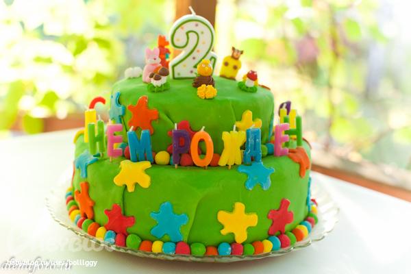 Торт из мастики для мальчика 2 года своими руками фото 1