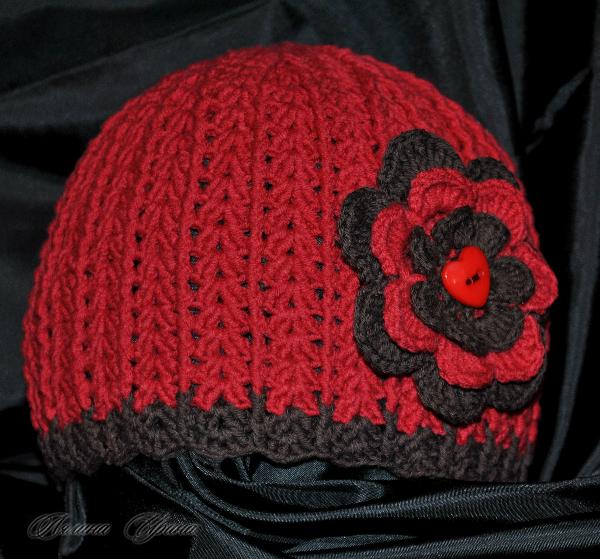 Связать шапку осень