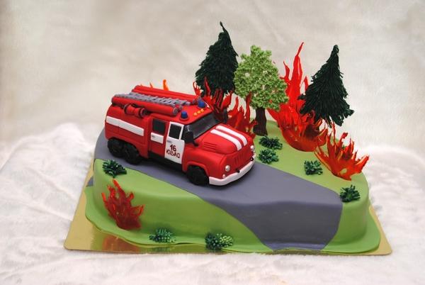 Торт пажарная машина фото