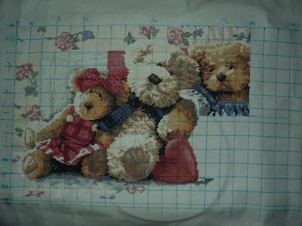 Семья мишек вышивка схема