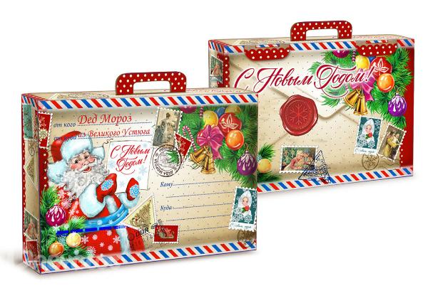 Упаковка к сладкие подарки к новому году заказать