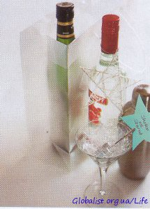 Как украсить бутылку мартини в подарок 14