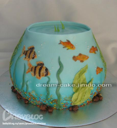 """Торт аквариум """" - пошаговый рецепт с фото"""