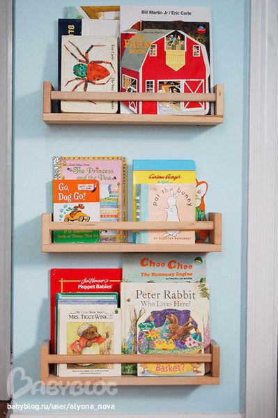 Как сделать полку для детских книжек