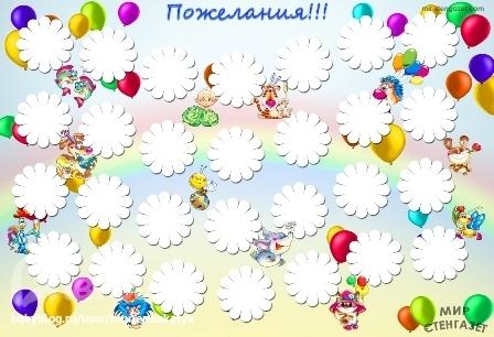 Плакат с поздравлениями на день рождения своими