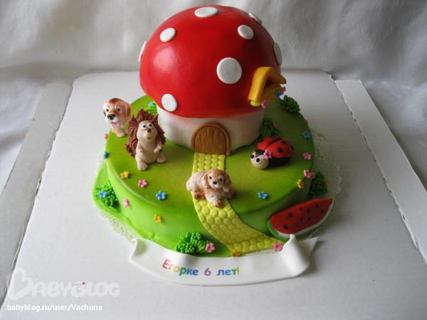 Торт грибок - фото