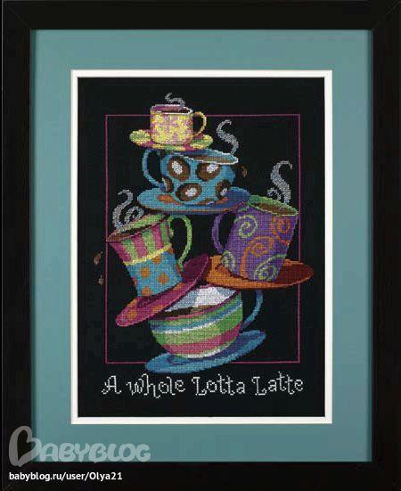 Полные чашки кофе латте (Дим)