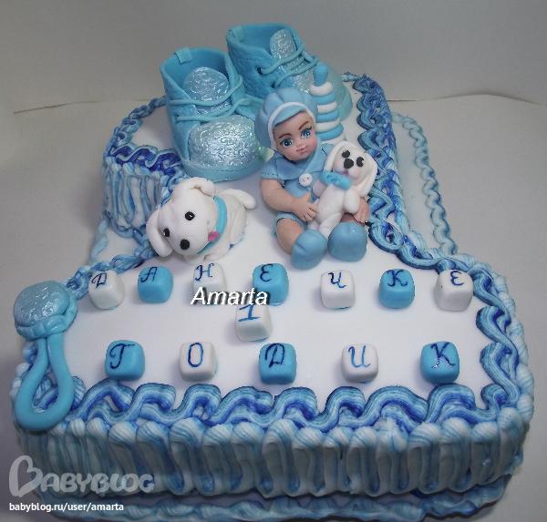 торт единичка для мальчика из крема фото