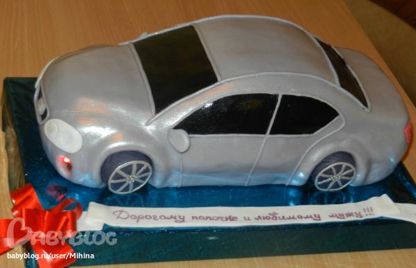 Как сделать маленькую машинку для торта 5