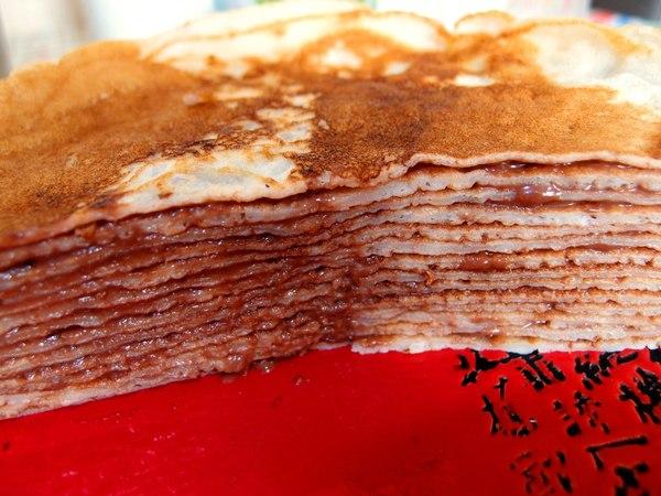 блинный торт с нутеллой рецепт с фото