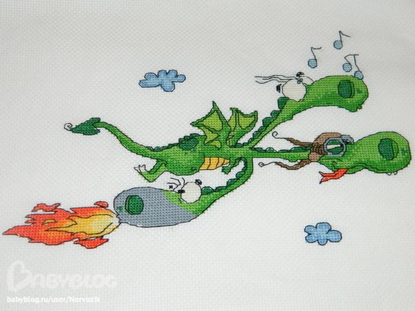 Змей горыныч схема вышивки 26
