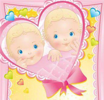 Поздравление с рождением двух девочек картинки