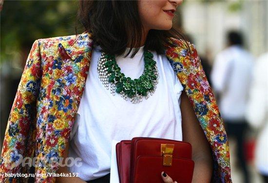 Бижутерия к блузке