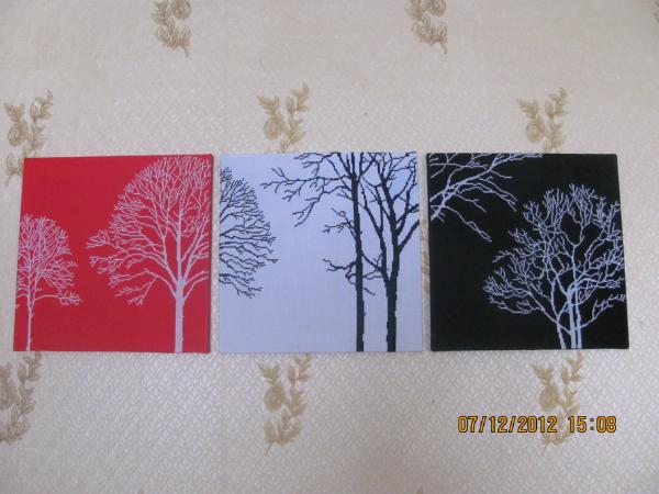 Триптих деревья схема вышивки крестом 71