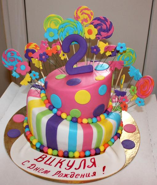 Детские торты на 2 года фото