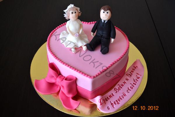 Торт на розовую свадьбу фото