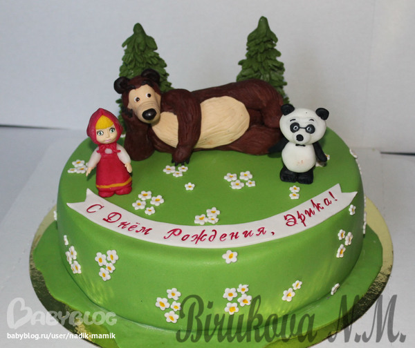 Мастер класс торт из мастики маша и медведь фото