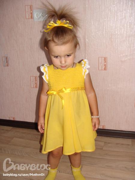 Платье для дочери своими руками 520