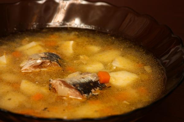 рецепт супа из сайры с пшеном