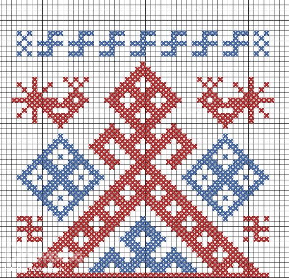 Макошь схема вышивки крестом фото 607