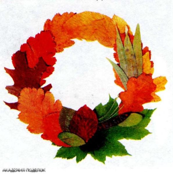 Венок из листьев на голову своими руками из цветной бумаги 15