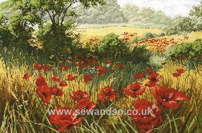 Девочки, может соберемся и вышьем вместе пейзажи от Anchor?  A Host of Poppies (Маковое поле).  Evening Sun (Закат) .