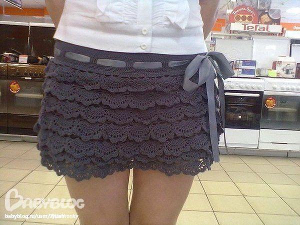 ажурная юбка + схема