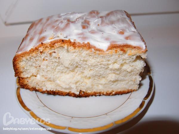 бисквитный торт со сметанным кремом фоторецепт