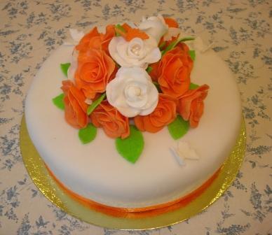 Торт из мастики на юбилей женщине своими руками