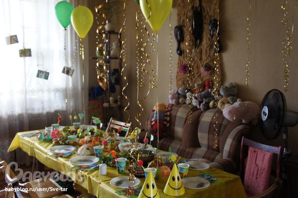 Оформление стола на годик мальчику своими руками рецепты с фото 10